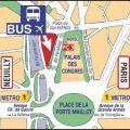 Plan bus Ryanair Beauvais Porte Maillot
